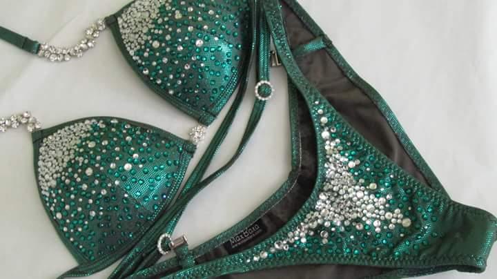 Zelené bodyfitness plavky MaxBara